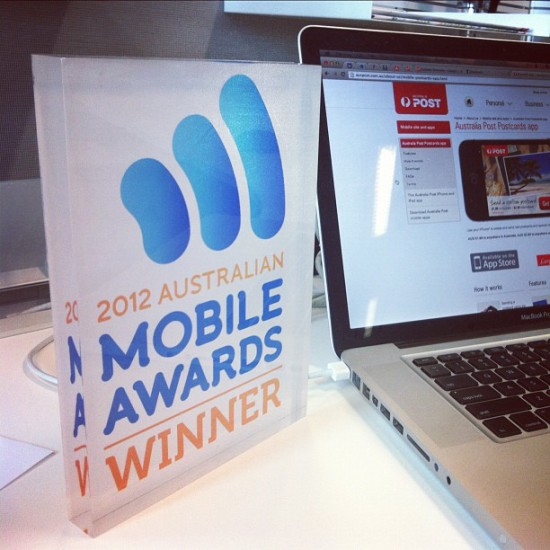 Australian Mobile Awards trophy